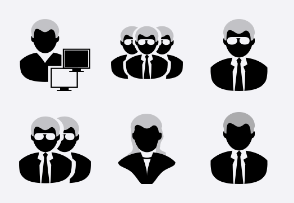 iPhone Black People SVG Icons