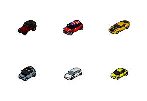 Iso-Pixel Cars set 01