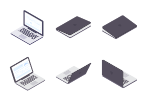 Computers and Objects - Isometric - Color