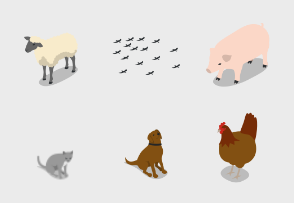 Isometric Farm - Animals