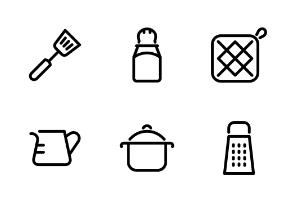Kitchenware Outline - Cookery