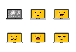 Laptops In Different Expressions