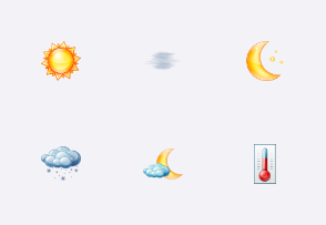 Large Weather Icons