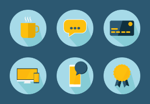 Light Blue Business Icons