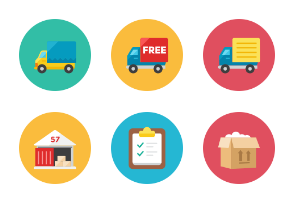 Logistic Icons - Rounded