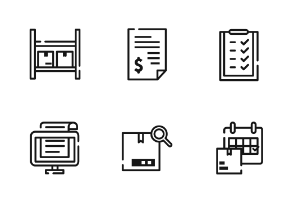 Logistic Outline Iconset