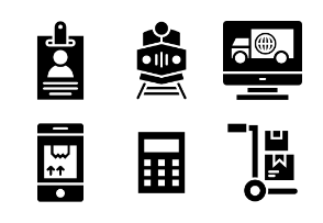 Logistics Delivery Glyph