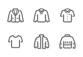 Man Clothing outline stroke
