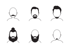 Man Hairstyle and beard