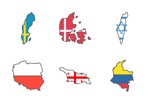 Map of Country Flag