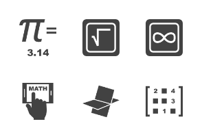 Math Symbols Glyph Black