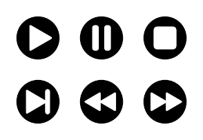 Media player control (badge)