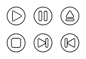 Media player control (Outline Badge)