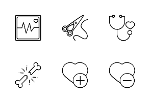 Medical And Health With Black And White Iconset