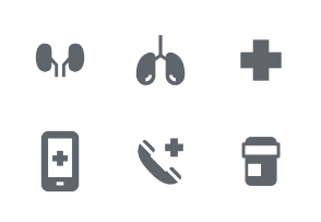 Medical Fill icons set