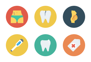 Medical & Health Flat Circle Icons vol 2