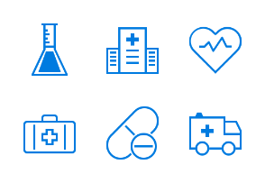 Freebies Outline Medical Icon Vol. 1