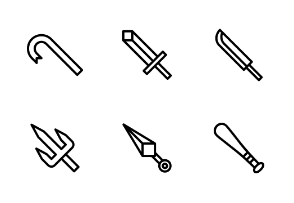 Melee weapon - outline