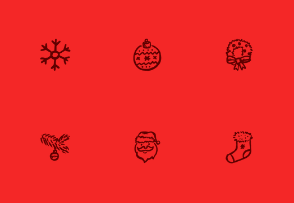 Merry Icons Free — 12 Christmas and New Year Icons