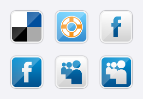 Metallic Social Icons 01