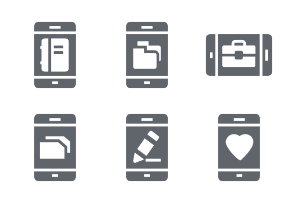 Mobile Functions Glyphs vol 1