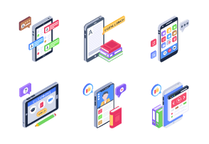 Mobile Learning Isometric