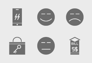 Mobile Shopping Glyph