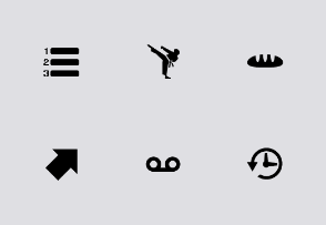 Mobile Toolbar Icons