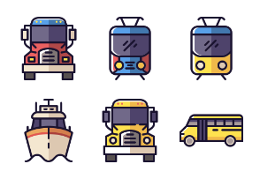 Modes of Transportation - Colored