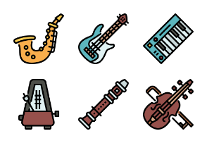 Music Instrument Color Outline