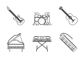 Music Instrument - Outline