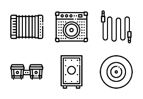 Music instrument outline
