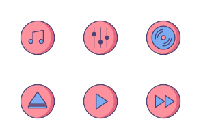 Music Interface (Filled Line)