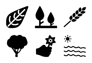 Nature Solid Icons Vol 3