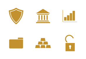 Online banking. Finance. Glyph. Silhouettes