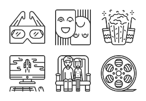Outline Cinema Icons