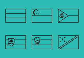 Outline world flags