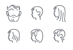People heads in line style