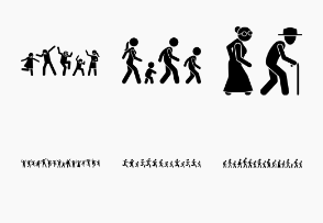 People walking, running, and dancing together