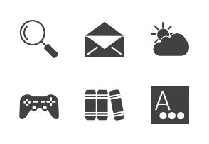 Device Apps & Settings II Glyph (Black)