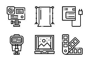 Photographer and designer gadget outline