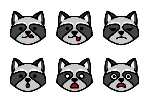 Raccoon Emoticons