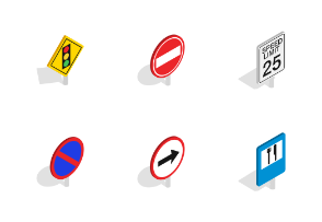 Road Sign - Isometric