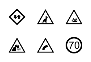 Road Signs Glyph