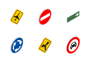 Road signs - isometric