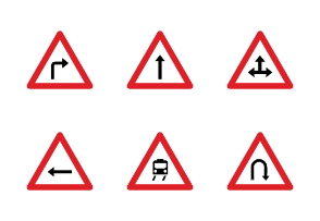 Road Signs Flat Color