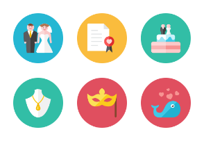 Romance Icons - Rounded