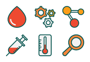 Science Set Flat Design