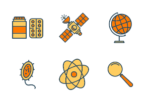 Scientific colored icons