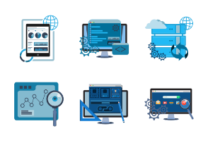 SEO and Development icon set.